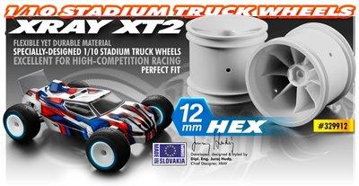STADIUM TRUCK WHEEL AERODISK WITH 12MM HEX - WHITE (2) - 329912