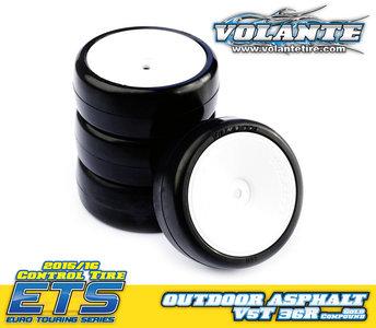 Volante V5 Tough 1/10 36R TC Rubber Tire Preglued 4pcs - VT-V5T-PG36R