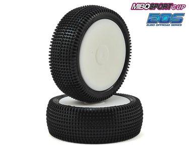 Schumacher Pre-Glued Cactus 1/10 - 4WD Front Tyres - Yellow (1 pair) - U6841