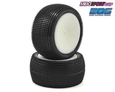 Schumacher Pre-Glued Cactus 1/10 - Rear Tyres - Yellow (1 pair) - U6839
