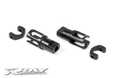 XRAY STEEL SOLID AXLE DRIVESHAFT ADAPTERS - HUDY SPRING STEEL 2 - 305137