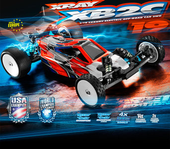 XRAY XB2 - 2019 Specs - 2WD 1/10 Electric Off-Road Carpet Edition - 320006 (Free Shipping NL - DE - BE)