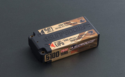 SUNPADOW 5100mAh-2S2P-7.4V-100C/50CLipo Battery (shorty pack) - 554383