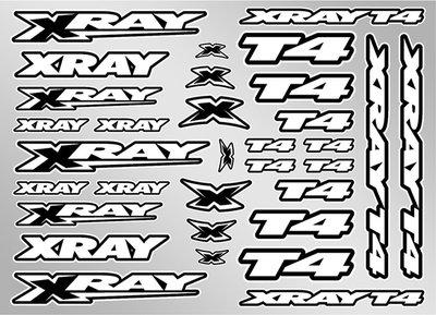XRAY T4 STICKER FOR BODY - WHITE - 397326