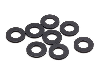 SMJ Rubber Body Mount Spacer M (6x12x1.0mm/8pcs) - SMJ1034
