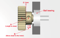 AXON Pinion Gear 64P 45T